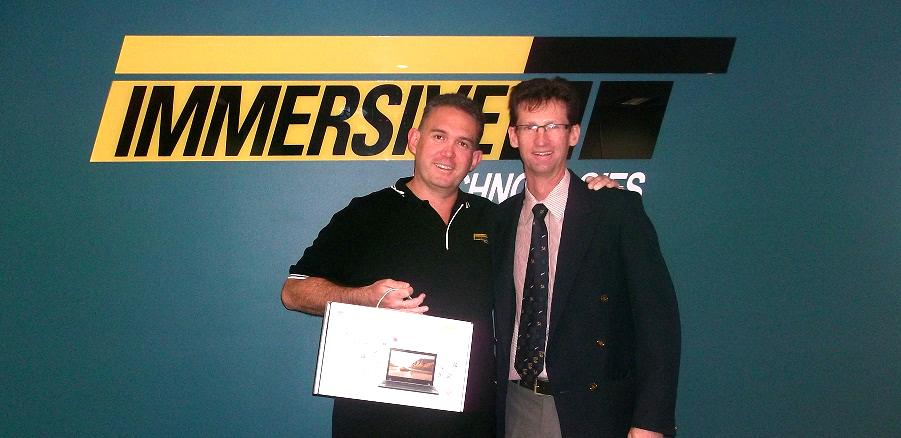 Ross Crockart with Daniel Bersan