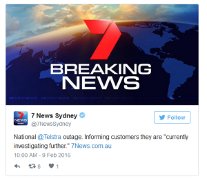Telstra Outage