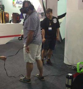 Computex Trade Show 2016 VR demo