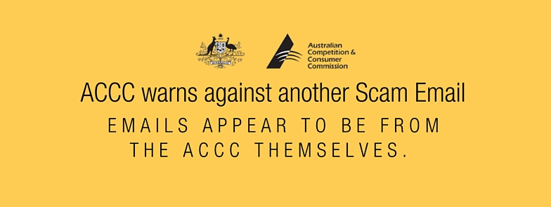 ACCC warns against another Scam Email