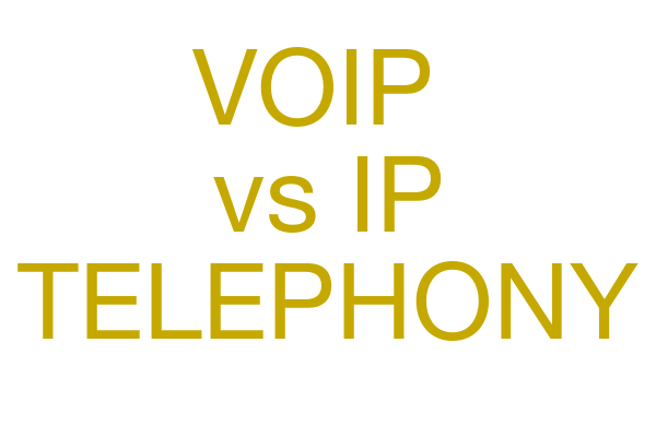 VOIP vs IP Telephony, are they the same thing?
