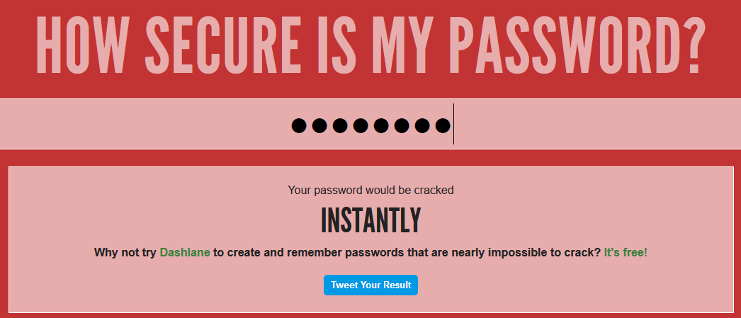 A password that is just password is easy to guess
