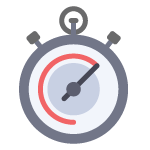 Stop watch indicating a level of response time